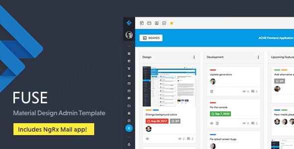 FUSE V10.0.0 - Angular 10+质感设计Bootstrap后台管理模板/免费分享